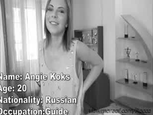 Szép orosz nymph angie koks kap csikni szar a rokokói masszív férfiasság